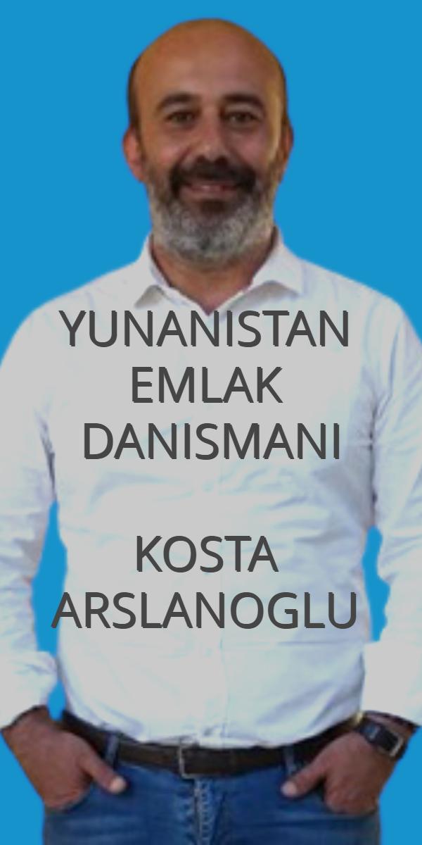 yunanistan emlak danışmanı Kosta Arslanoğlu